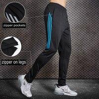 BINTUOSHI, Мужские штаны для бега, футбольные тренировочные штаны с карманом на молнии, футбольные брюки, штаны для бега, фитнеса, тренировочные ...