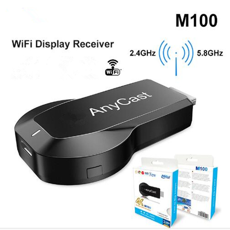 Anycast M100 2.4G/5G 4K Miracast Any Cast Wireless DLNA AirPlay HDMI TV Stick Wifi Display Dongle Receiver For IOS Android PC
