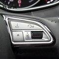 Автомобильный Стайлинг кнопки переключения рулевого колеса Atuo отделка рамка Чехлы наклейки для Audi A6 A7 C7 S6 S7 RS6 RS7 аксессуары для интерьера
