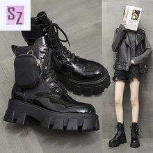 Martin Boots Thick Heel Women's British-Style Fashion Front-Lace Retro Autumn Personalized