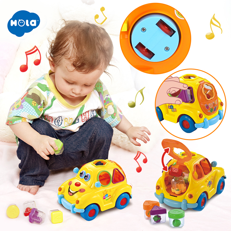 HOLA TOYS 516 Baby Car Toy With Flashing Front And Back Lights And Music For Children Gifts
