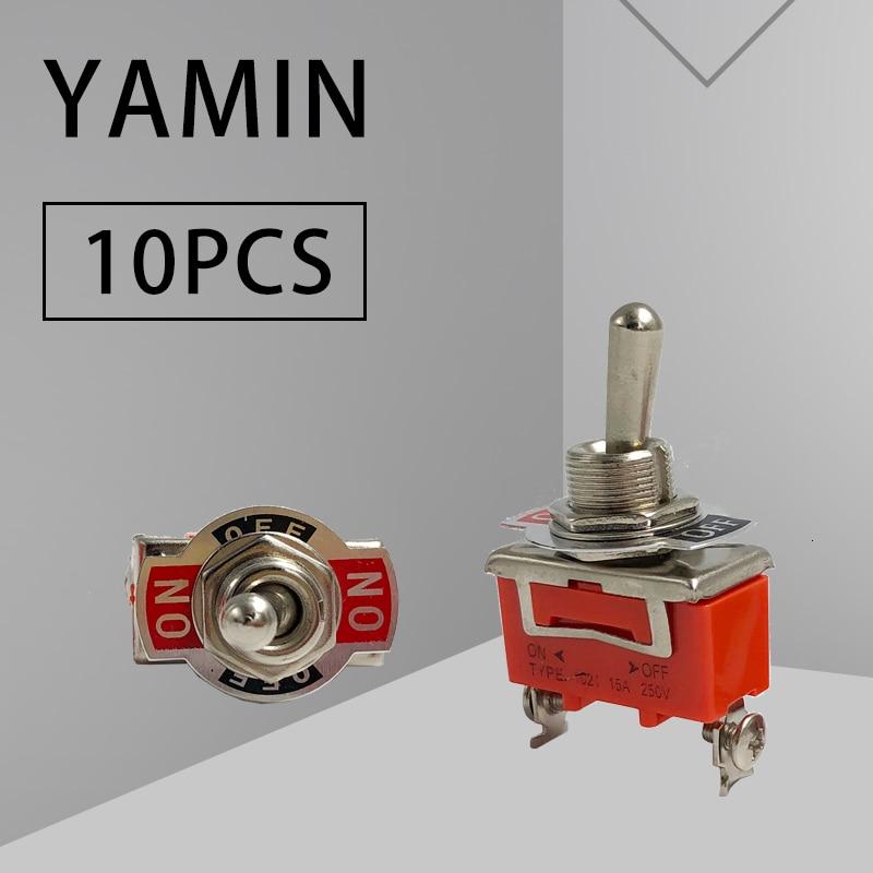 10 шт. мини 12 мм тумблер клавишный переключатель 6 контактов 2 позиции/3 позиции ВКЛ./ВЫКЛ. Рычаг включения двойные 6 контактов клеммы 1321/1322