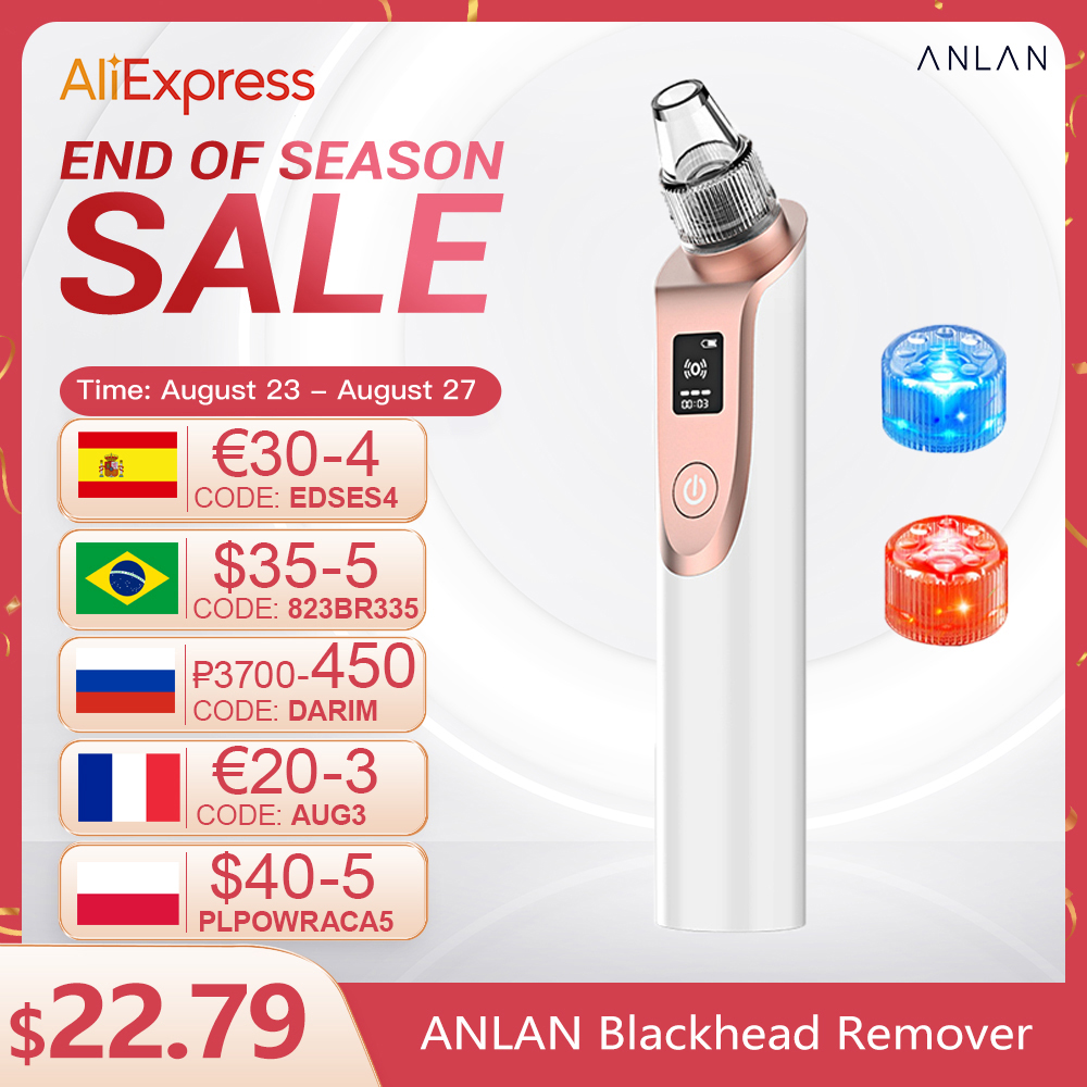 ANLAN Blackhead Remover Vacuum Pore Cleaner Acne Comedones Removal Black Head Remover Face Care Pimples Tools Comedone Extractor Home Use Beauty Devices  - AliExpress