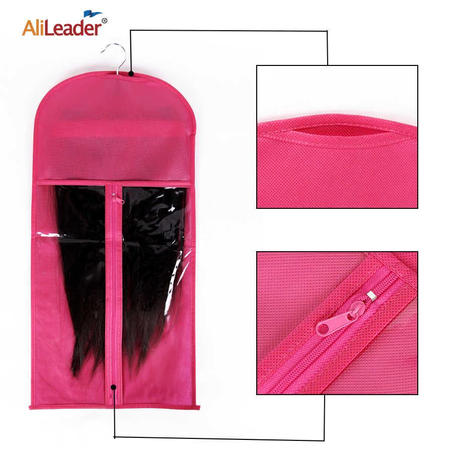 Alileader 10Pcs Tragbare Haar Verlängerung Lagerung Tasche Für Menschliches Haar Bundles Schuss Verpackung Anzug Fall Zipper Tasche In Großhandel
