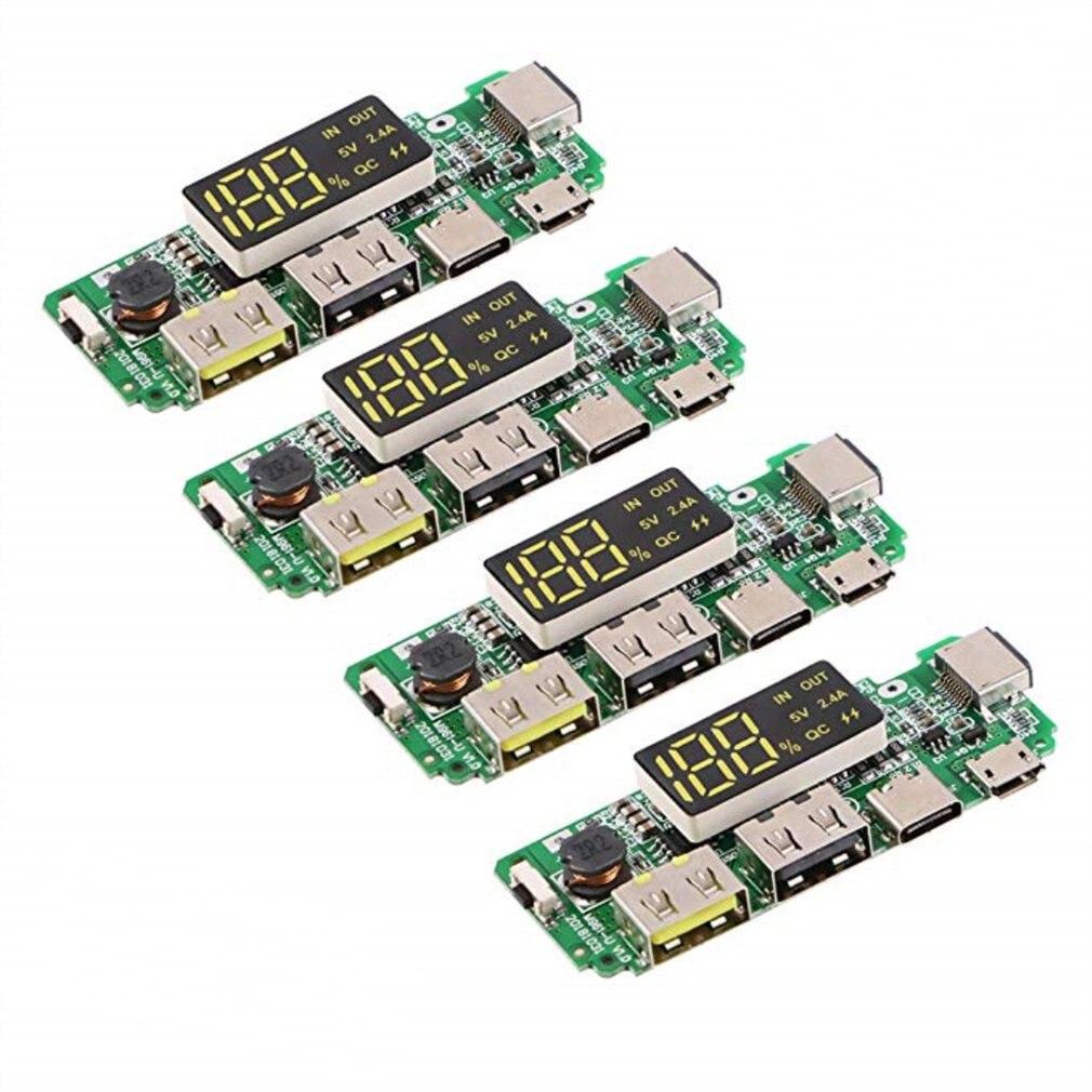 Светодиодный двойной usb 5v 24a micro/type c/lightning внешний