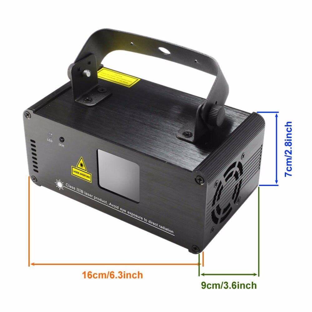 Mini IR Remote Sound Beam Scan 200mW Luces láser cian verde azul 8 - Iluminación comercial - foto 2