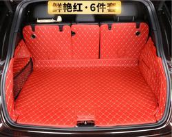 Samochód haft skóra pełna tylny podajnik bagażnika Cargo Liner mata podłogowa Protector podnóżek maty dla Porsche cayenne 2018 2019 2020 na