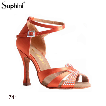 FREE SHIPPING Suphini Purple Latin Dance Shoes Crystal New Released  Yourself Latin Shoes Comfortable Dance Shoes