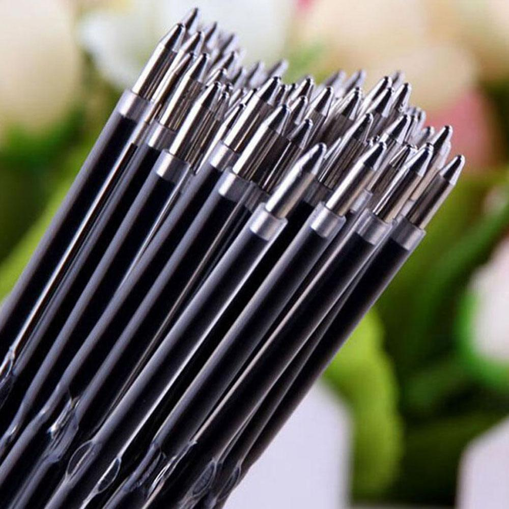 Dropshipping 20pcs/lot 0.7mm Pen Rod Stander Ballpoint Pen Refill Lead Black Blue 107mm Office School Supplies