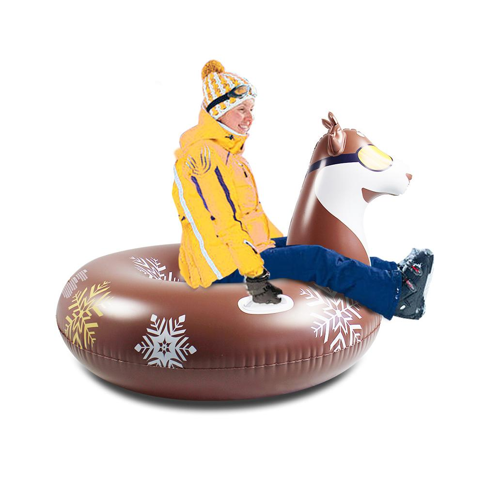 2in1 multifunctional Inflatable Snow Tube with Handle Multifunctional Environmental Friendly Cold-resistant Inflatable Snow Sled