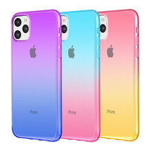 Gradient transparent mobile phone case for iPhone 11 X XS XR XSmax 8 7 6 6S PluS new ultra-thin anti-drop protection cover