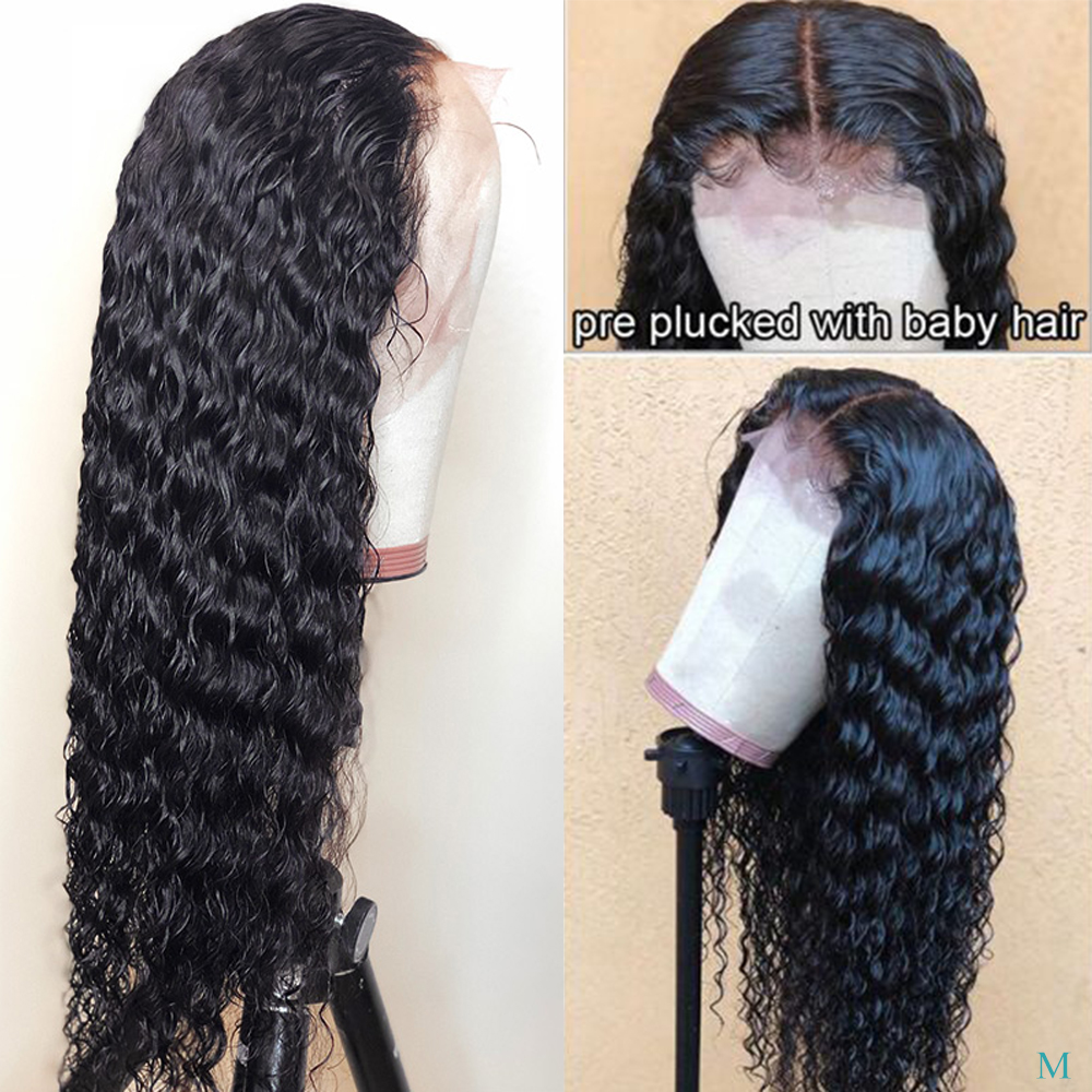 13x4 Lace Front Human Hair Wigs With Baby Hair Malaysian Deep Wave Remy Human Hair 150% Lace Front Wigs 360 Lace Frontal Wigs