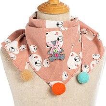 Детские шарфы, осенне-зимний детский шарф из хлопка и льна, однотонный шарф с круглым вырезом для мальчиков и девочек, новые модные шарфы для детей