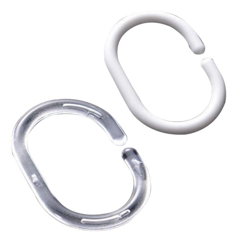 24 шт. C-образная пластиковая занавеска для душа, кольца, драпировка для ванной комнаты зажим петли, подвесной крючок, вешалка для ванной комн...