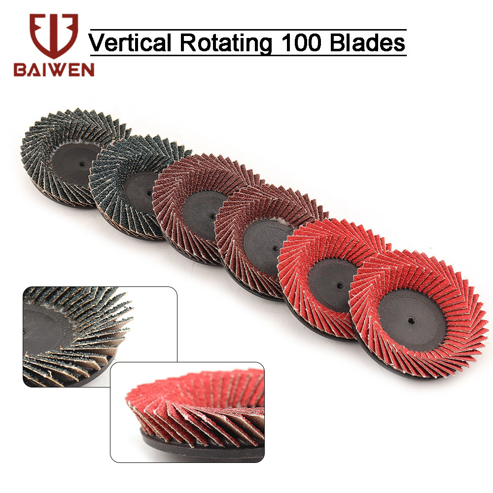 3/6/9Pcs 3'' Flap Sanding Discs Type R Roloc Threaded Twist Lock Grinding Wheels 40 60 80Grit For Die Grinder Electric Drill