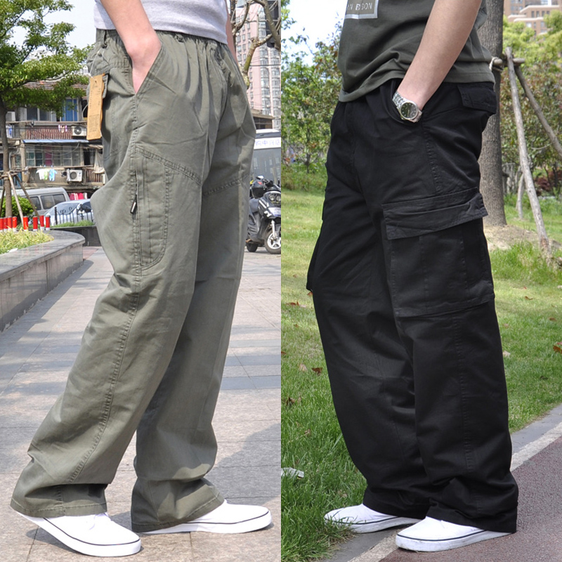 Men Harem Tactica Pants Brand 2018 Summer Sagging Cotton Pants Men Trousers Plus Size Sporting Pant Mens Joggers Feet Pants 6XL