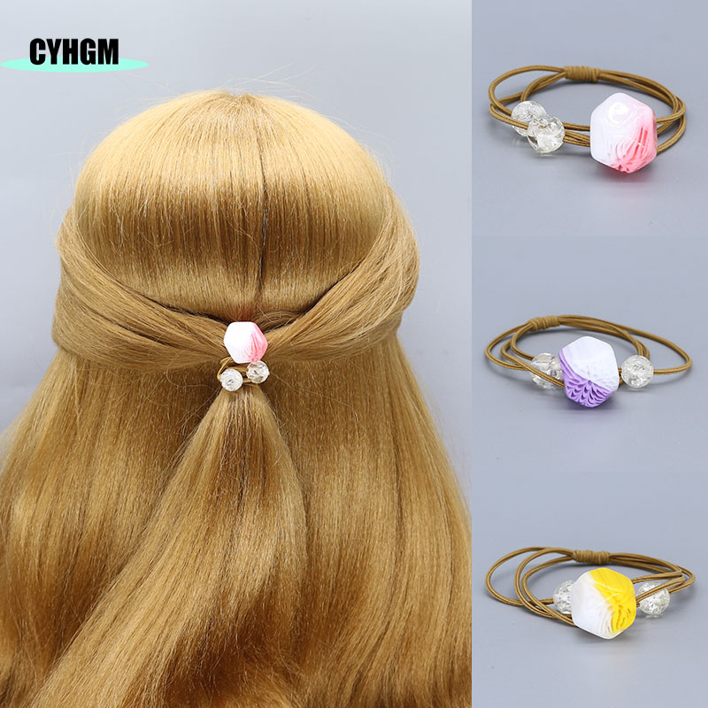 Elastic Hair Bands Hair Scrunchie Velvet  Hair Ties Scrunchy In Women's Hair Accessories  Headwear Kids Hair Rubber Band D03-5