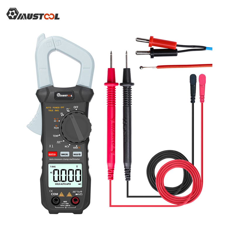 MUSTOOL X1 6000 Counts True RMS Clamp Meter Digital Multimeter Automatic Digital Meter With Square Wave Output /V/A/Diode New|Multimeters| |  - title=