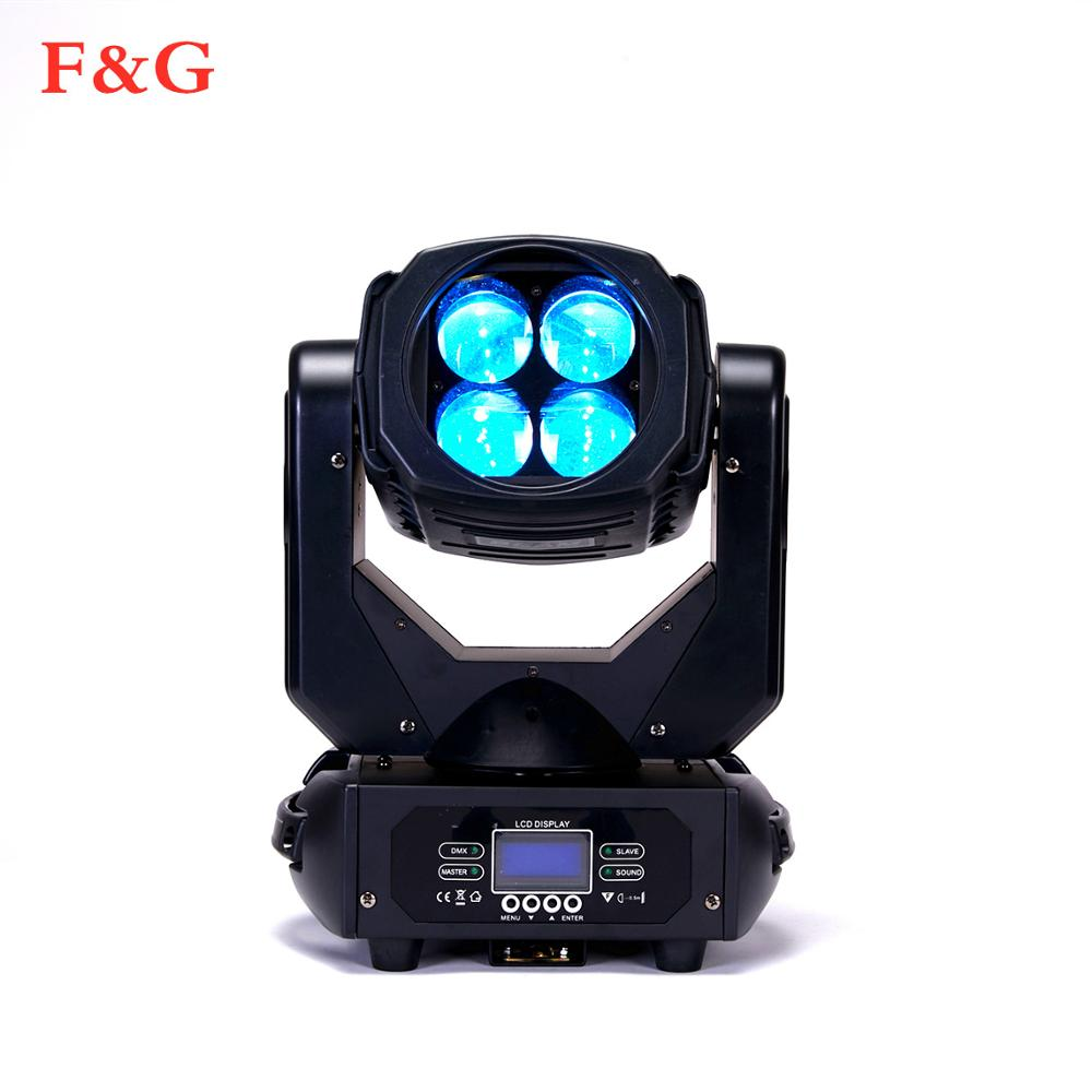 F&G  LED Super Beam 4x25W Professional Stage Lighting Perfect Lighting Effect Good For Stage DJ And Home Party
