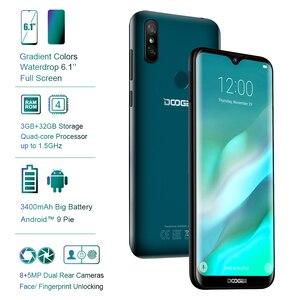 Image 2 - DOOGEE Y8 Y 8 Android 9,0 teléfono móvil FDD LTE Smartphone de 6,1 pulgadas MTK6739 Quad Core 3GB RAM 32GB ROM 3400mAh teléfono móvil Face ID