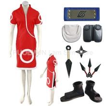 2014 New Anime Uzumaki Naruto Sakura Haruno Cosplay Costume full set for women male cosplay costume