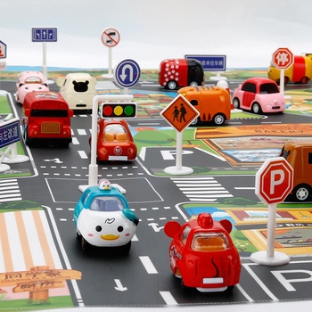 City Road Map Parking Lot Enlarge Car Toy Waterproof Playmat Simulation ToysPlaying Mat Portable Floor Games 130*100CM image