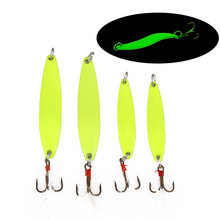 5 /7/10 /13/cm Willow-shaped Luminous Sequin Lure metal fishing bait