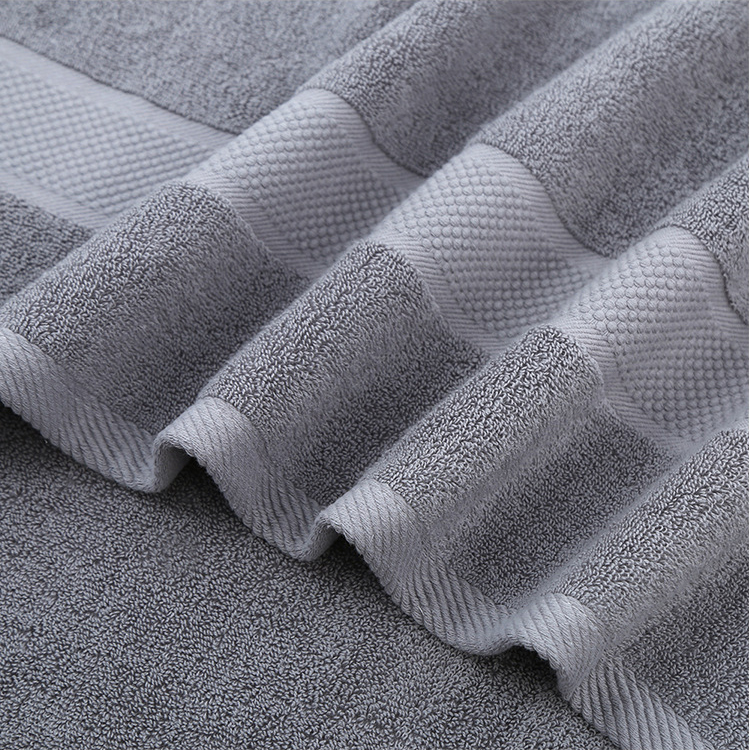 70x140cm Adult 100% Cotton Bath Towel Strong Water Absorption Soft Comfortable Bathroom Face Towel Sets 3 Colors Solid Towels