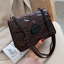 цена на Luxury designer Rivet Women Shoulder Crossbody Bags Fashion PU Leather Handbag Casual Clutch Ladies Messenger Bag Female Purse