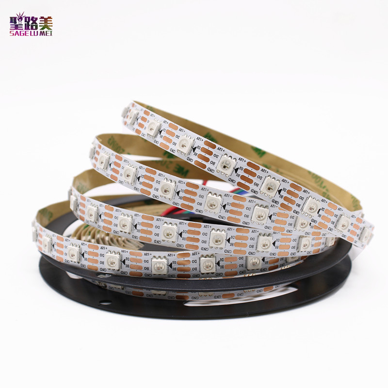 DC12V WS2815 (WS2812 WS2813) LED Pixels Strip Light Individually Addressable LED Dual-Signal RGB Tape Ribbon 30/60/144 Pixels/m