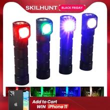 SKILHUNT H03C RC Đỏ/Xanh Lá/Xanh Dương/Trắng Đa Màu Sắc LED Đèn Pin