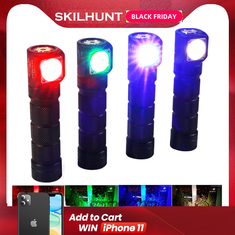 Skilhunt H03C RC Red/Green/Blue/White Multi-colors LED Headlamp Flashlight