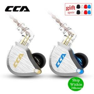 Image 1 - Новинка CCA C12 5BA + 1DD гибридная металлическая гарнитура HIFI бас наушники в ухо монитор шумоподавление наушники сменный кабель V90 ZSX