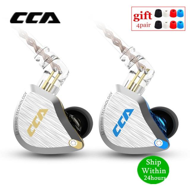 Новинка CCA C12 5BA + 1DD гибридная металлическая гарнитура HIFI бас наушники в ухо монитор шумоподавление наушники сменный кабель V90 ZSX
