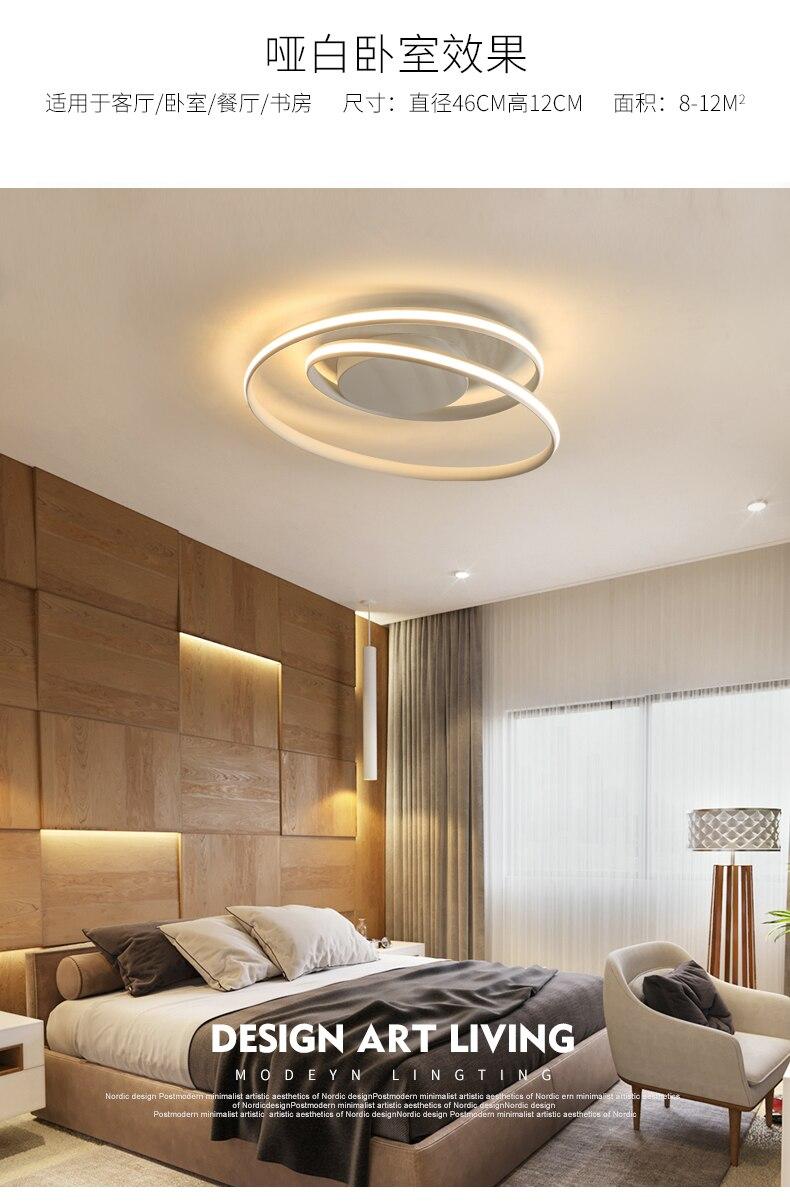 lâmpada de teto minimalista e moderna, iluminação