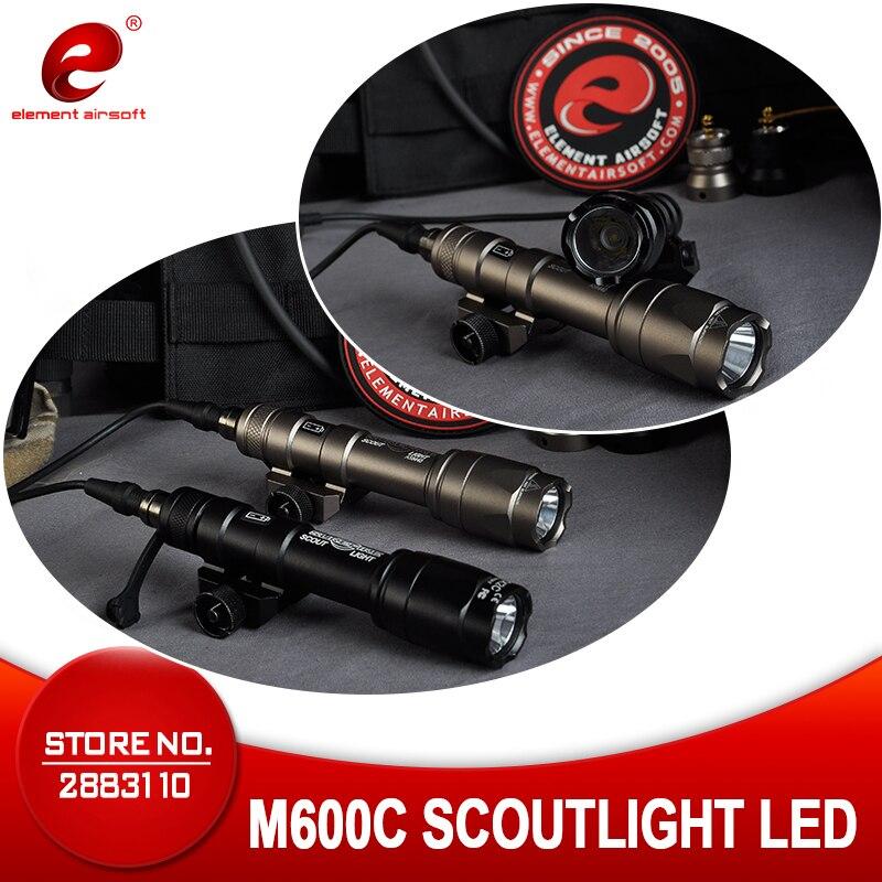 Element Airsoft Surefir M600 Tactical Flashlight  366 Lumen M600C Hunting LAMP 20mm Rail  Gun Weapons Light EX072
