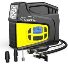 YABER Car Air Compressor 150PSI Digital Portable Car Tyre Inflator with LCD Screen LED Lamp 3 Nozzle Adaptors Air Compressor Pum