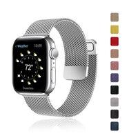 Correa para Apple Watch, banda de 44mm, 40mm, 38mm y 42mm, accesorios, pulsera de Metal con bucle magnético para iWatch series 6 se 5 4 3