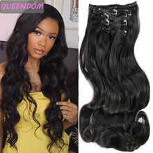 Silky-Hairpieces Synthetic-Hair-Extensions Brown Ombre 6pcs False-Hair Blonde Body-Wave
