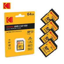 KODAK-tarjeta de memoria SD V30 A1 de alta velocidad, SDHC/SDXC SD U1 U3 32GB 64GB 128GB 256GB 512GB, para portátil Canon Nikon DSLR