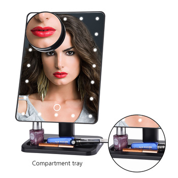 10x Vergrößerungsspiegel Mit Licht | Smart Bluetooth Lautsprecher Make-Up Spiegel 10X Vergrößerungs LED 20 Lichter Lautsprecher Eitelkeit Spiegel Touchscreen 180 Rotierenden Einstellbare