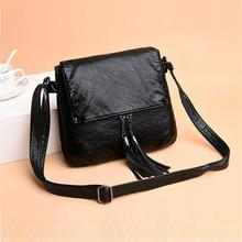 New 2020 Vintage soft Leather Crossbody Bags For Women Trave