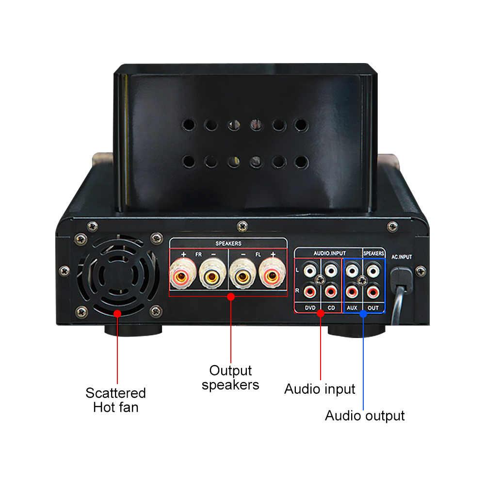 Bluetooth Amplifier Tabung Preamplifier Power Sound Amplifier USB DAC Amp Kelas AB Home Theater Hifi Amplificador MP3 Decoder