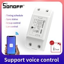 SONOFF temel kablosuz Wifi anahtarı uzaktan kumanda otomasyon modülü DIY zamanlayıcı evrensel akıllı ev 10A 220V AC 90 250V