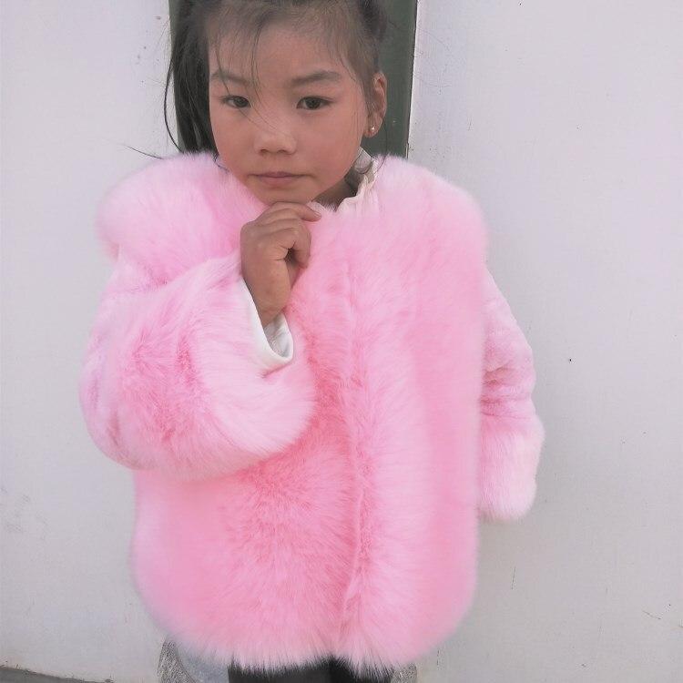 Crianças meninas casaco de pele inverno 2019