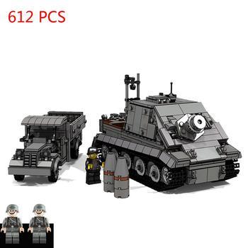 Горячая военная техника WW2 немецкие армейские транспортные средства штурмовой Тигр самоходный миномет танк Кирпичи Модель поставка грузов