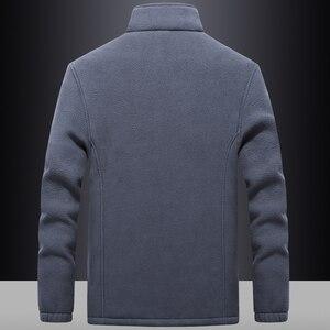 Image 2 - Ветровка мужская с флисовой подкладкой, уличная одежда, спортивная одежда, худи с шерстяной подкладкой, теплые толстовки, пальто, свитшоты, 7XL/8XL/9XL