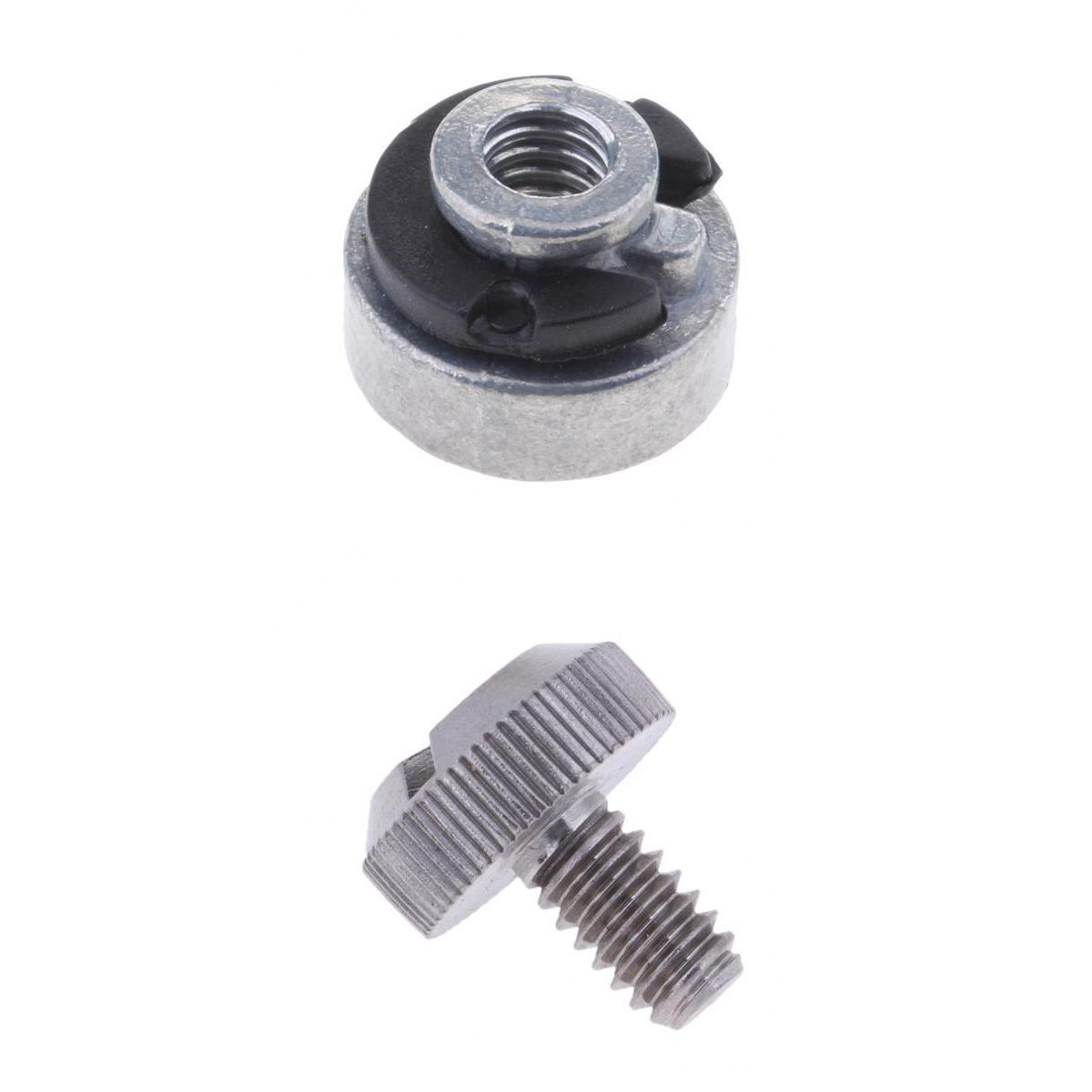 1/4'-20 Aluminium Rear Seat Nut + Stainless Steel Bolt For  Sportster