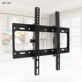 Universal 50KG Adjustable TV Wall Mount Bracket Flat Panel TV Frame Support 15 ° Tilt for 26-55 Inch LCD LED Monitor Flat Pan image