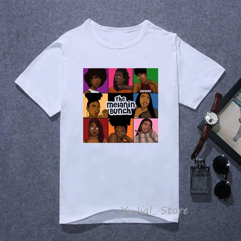 The melanin bunch забавные Графические футболки для женщин vogue Urban black girl Футболка с принтом 90s лучшая футболка друзей женская футболка